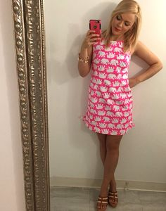 Lilly Pulitzer Delia Shift Dress in Tusk in Sun via @mizzzzbeasley Instagram