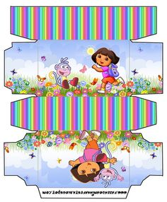 Cajitas para imprimir gratis de Dora la Exploradora.
