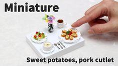 미니어쳐 고구마 돈까스 만들기 - Miniature Sweet Potatoes, Pork Cutlet