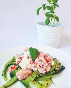 Cuketové nudle s cottage Tuna, Green Beans, Fish, Meat, Vegetables, Fitness, Beef, Vegetable Recipes, Atlantic Bluefin Tuna