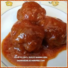 Polpette con il sugo di mamma Vera Ricetta di famiglia, disponibile anche senza glutine e senza uova. enzamariablog.wordpress.com