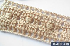 MyPicot is always looking for excellence and intends to be the most authentic, creative, and innovative advanced crochet laboratory in the world. Modern Crochet, Cute Crochet, Crochet Motif, Knit Crochet, Crochet Stitches Patterns, Thread Crochet, Crochet Designs, Stitch Patterns, Tear