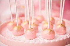 Gold dust cake pops