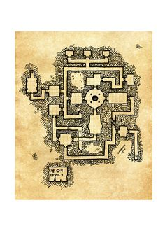 map #01, is a 3 level dungeon, level 1 Player version, rpg dungeon, keep map, by unknown user