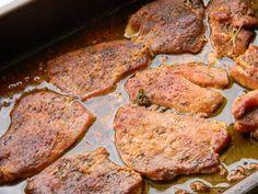 Friptura de porc la cuptor inabusita cu vin si usturoi