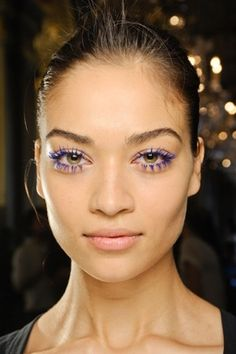 Stella McCartney  adds a flash of colour with blue mascara