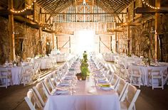 barn decoration | barn wedding decor photos by Cameron Ingalls via Green Wedding Shoes ...