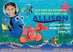 Finding Nemo Birthday Party Invitation  by Cherimorandesign, $10.00