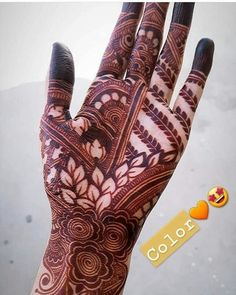 Henna Design By Fatima Khafif Mehndi Design, Mehndi Designs Book, Modern Mehndi Designs, Dulhan Mehndi Designs, Mehndi Design Photos, Mehndi Designs For Fingers, Latest Mehndi Designs, Mehendi, Mehadi Design
