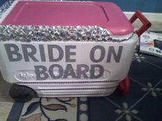 Beach bachelorette cooler #bachelorette #wedding