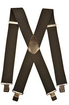 140 kr. Men's XXL Extra Wide, Heavy Duty X-Shape Braces / Suspenders, 5cm - Black Olata http://www.amazon.co.uk/dp/B00RZ8R030/ref=cm_sw_r_pi_dp_Y8A4wb121D05T