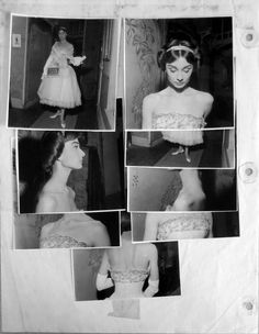 """Audrey Hepburn in """"Love in the Afternoon"""" Billy Wilder, 1956. Script supervisor photos by Lucie Lichtig for Hubert de Givenchy's  costume."""