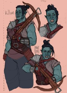Your secret is safe with my indifference. — may12324: My buff orc wife Killian. Sitting pose...