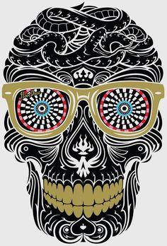 sugar skull vector - Google Search