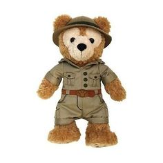 "disney parks original duffy the disney bear on safari 12"" plush toy new with tag"