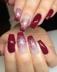 i substituted the solid color for a metallic red and it looks absolutely gorgeous. Are you looking for christmas acrylic nail colors design for winter? See our collection full of cute winter christmas acrylic nail colors design ideas and get inspired!
