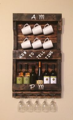 Pallet Project Coffee and Wine Rack Combo