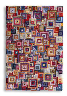 wow. hooked rug.  made from t-shirts