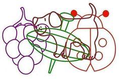 Muro Visual Perceptual Activities, Gross Motor Activities, Sensory Activities, Learning Through Play, Kindergarten Worksheets, Creative Thinking, Food Coloring, Teaching Kids, Stencils