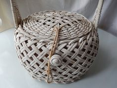Classic Vintage Woven Straw Handbag in by LaChicVintageCloset, $29.95