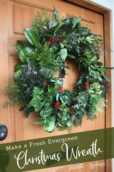 How to make a Fresh Evergreen Christmas Wreath from Scratch - Merry, Merry Ch. - How to make a Fresh Evergreen Christmas Wreath from Scratch – Merry, Merry Christmas! Homemade Christmas Wreaths, Homemade Wreaths, Holiday Wreaths, Christmas Crafts, Christmas Decorations, Christmas Christmas, Make Your Own Wreath Christmas, Christmas Island, Coastal Christmas