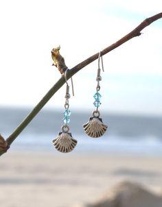 Ohrhänger Muscheln von Meeresglitzern auf DaWanda.com