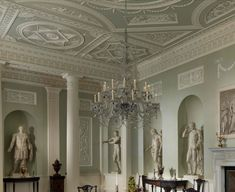 Dining room from Lansdowne House, London, 18th century (1765–68)  Robert Adam (English, 1728–1792)  From...  http://a-l-ancien-regime.tumblr.com/post/27443410575/dining-room-from-lansdowne-house-london-18th