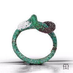 Emerald and diamond dazzle