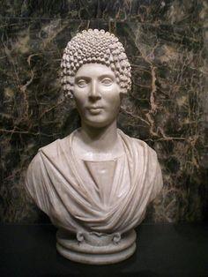 (c. 120-130 CE) Funerary portrait of a Roman woman