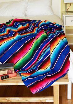 Polychromatic Cuddles Throw Blanket