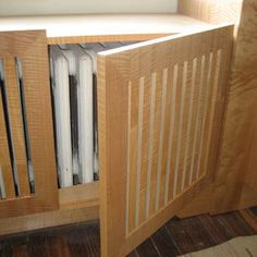 Radiator-Cover Easy access and a window seat Home Diy, Radiator Cover, Interior Design Firms, Millwork, Interior, Heater Cover, Window Seat, Diy Radiator Cover, Home Decor