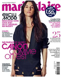 Charlotte Gainsbourg on the cover of Marie Claire France, Février 2014