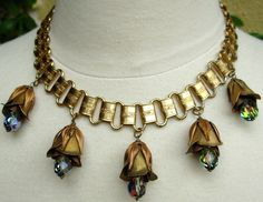Miriam Haskell Vintage  Rosebud Necklace