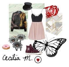 """""""Cecilia M.'s Grunge"""" by sequoyah-dockry ❤ liked on Polyvore featuring Givenchy, Topshop and Converse"""