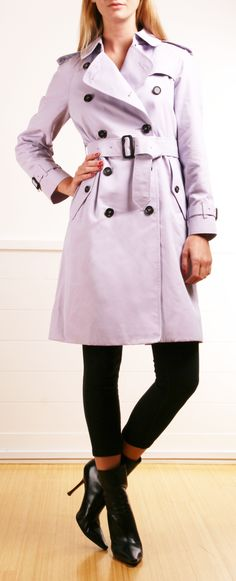 Burberry lavender trench coat