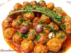 jpg Fish Balls Via Sandra Angelozzi Vegetarian Italian, Vegetarian Recipes, Cooking Recipes, Fish Tagine, Turkish Recipes, Ethnic Recipes, Middle East Food, Algerian Recipes, Egyptian Food