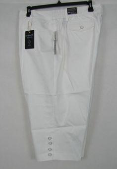 Zac & Rachel capri women's plus comfort waist white capri size 22W NEW #ZacRachel #CaprisCropped 19.99