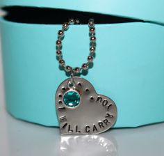 I Will Carry You - Necklace-  love that poem