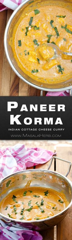 Paneer Korma curry - Mughlai Shahi Korma - Indian cottage cheese curry