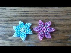 NEW Hook Only Kantian Flower - YouTube. I can see these as Christmas decorations.