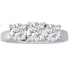 2ct Three Diamond Ring in Platinum I'll take two.