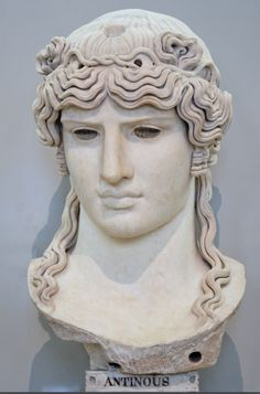Antinous Mondragone: from the Mondragone villa in Frascati (Italy), owned by the Borghese family, who owned the bust in the century. The eyes and the attribute on the top of the head (uraeus or lotus flower? Roman Sculpture, Sculpture Art, Ancient Rome, Ancient History, Sculpture Romaine, Statues, Marble Bust, Louvre Paris, Empire Romain