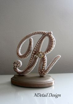 Wedding Cake Topper & Display  Monogram Pearl and by NDetailDesign, $110.99