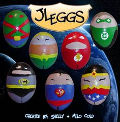 Great Geeky Easter Eggs! -Wall-E, superhero, Star Trek, Angry Birds, Mario, Portals, Doctor Who