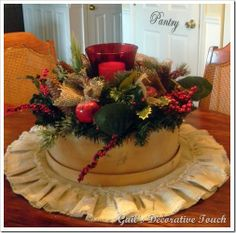 cheese box centerpiece