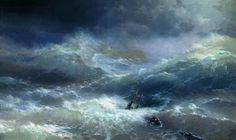 Wave - Ivan Aivazovsky - Completion Date: 1889