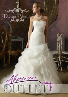 cf6801b86 Divinos vestidos de novia a un excelente precio! Hasta agotar existencias.  En Divino Vestido