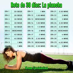 Consigue unos #abdominales fuertes y #definidos con este reto de 30 días.: