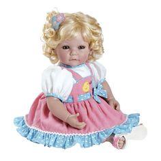 "Adora Chick Chat Vinyl 20"" Doll Blonde Hair Blue Eyes"