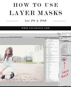 Don't break up with Photoshop! Get Our Helpful Editing Tips - want to see How To Use Layer Masks? Check out this editing tip from Colorvale! We have a ton of Photoshop & Elements Editing tips and Video Tutorials - http://www.colorvaleactions.com/blog/how-to-use-layer-masks/